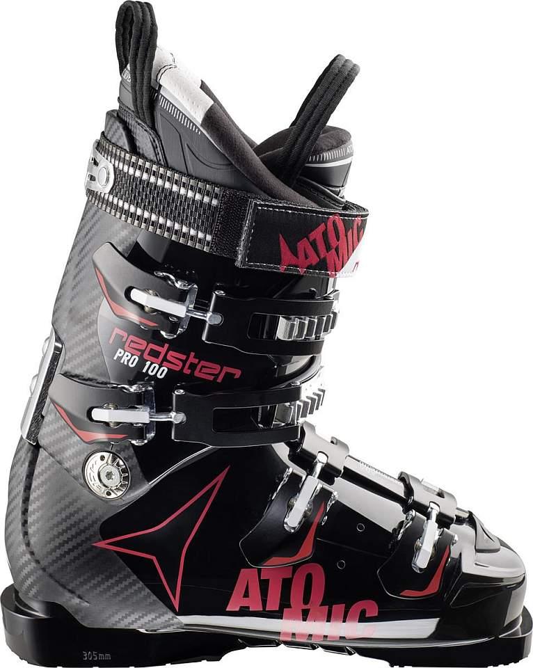 Sjezdové boty ATOMIC REDSTER PRO 100, model 2014/2015 velikost 28.5 /black/red